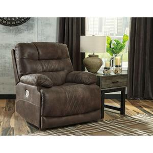 Ashley Power Recliner with Adjustable Headrest Welsford Walnut