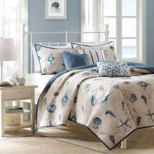 Full/Queen Bayside Reversible Coverlet Set