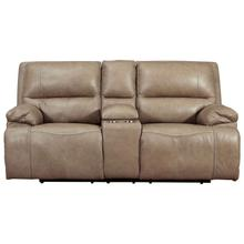 ASHLEY U43702-18 3-Piece Ricmen Putty Power Leather Reclining Loveseat