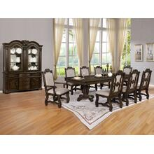 Crown Mark 2420 Neo Renaaissance 9PC Dark Oak Dining Table