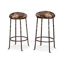 Barranca Iron-Base Cowhide Stools