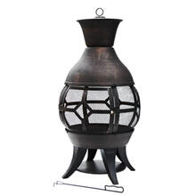 Heavy Duty, Cast Iron Fire Pit, High Temperature Paint Finish, Chiminea