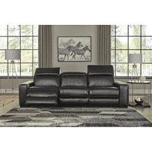 Mantonya - Midnight - 2 Power Recliner Sectional