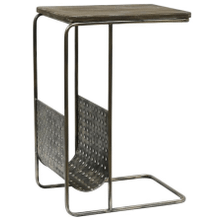 View Product - Metal C-Table with Magazine Rack