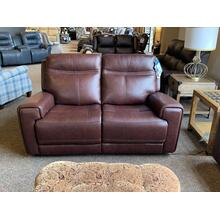 Bravo Leather Power Reclining Loveseat