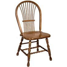 Country Windsor Peacock Side Chair