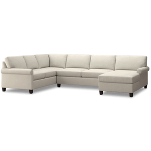 Spencer Right Chaise Sectional - Cream Fabric