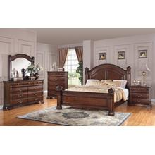 AUSTIN GROUP 527 -10-01-60R-60H-60FG Isabella 3-Piece Bedroom Group - Queen Bed, Dresser & Mirror