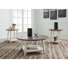 T377-13  Cocktail and 2 End Tables