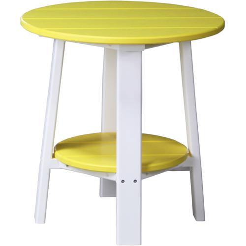 Deluxe End Table Yellow and White