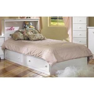 Lang Furniture 2-Drawer Twin Size White Storage Bed