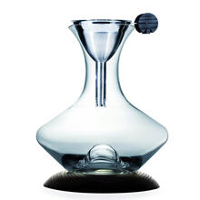 Legnoart Optimun Wine Decanter Set with Dask Ashwood Base and Funnel with Filter