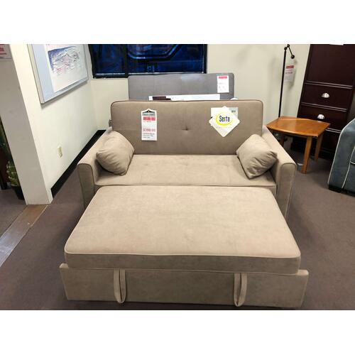 Full Size Serta Sleeper Tan