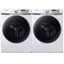 See Details - SAMSUNG 4.5 cu. ft. Front Load Washer with Steam & 7.5 cu. ft. Smart Electric Dryer with Steam Sanitize- Open Box