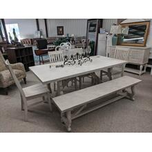 Table, 4 Chairs, Bench & Buffet