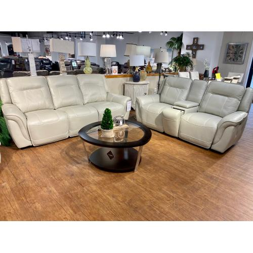 Caear Ivory Full Power Leather Sofa & Loveseat