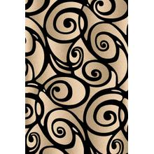 Medium - Scupltures S-241 Black 5x7 Rug