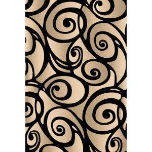 American Cover Design - Medium - Scupltures S-241 Black 5x7 Rug