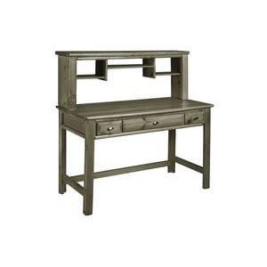 Laguna Desk with optional Hutch Gray