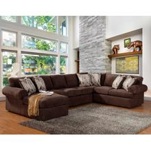 View Product - Brandon 3 Pc. Sectional Chocolate