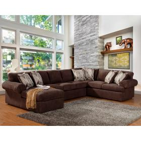 Brandon 3 Pc. Sectional Chocolate