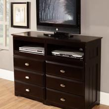 Espresso 6 Drawer Entertainment Dresser