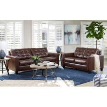 ALTONBURY - WALNUT LEATHER SOFA & LOVE SEAT
