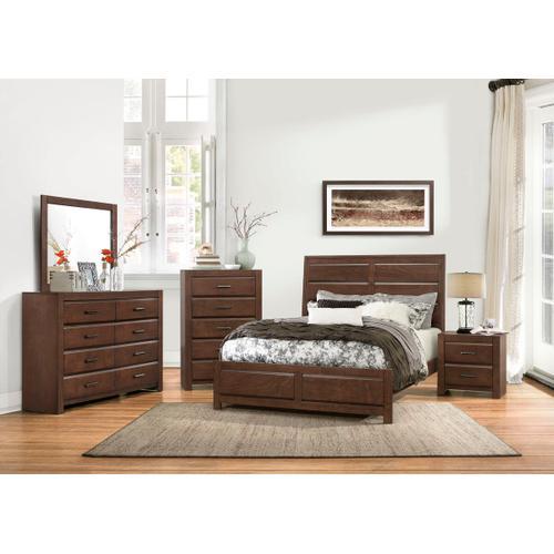 Erwan Qn Bed, Dresser, Mirror and Nightstand