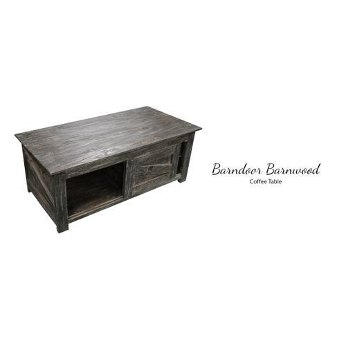 Gallery - Barndoor Barnwood Cofee Table