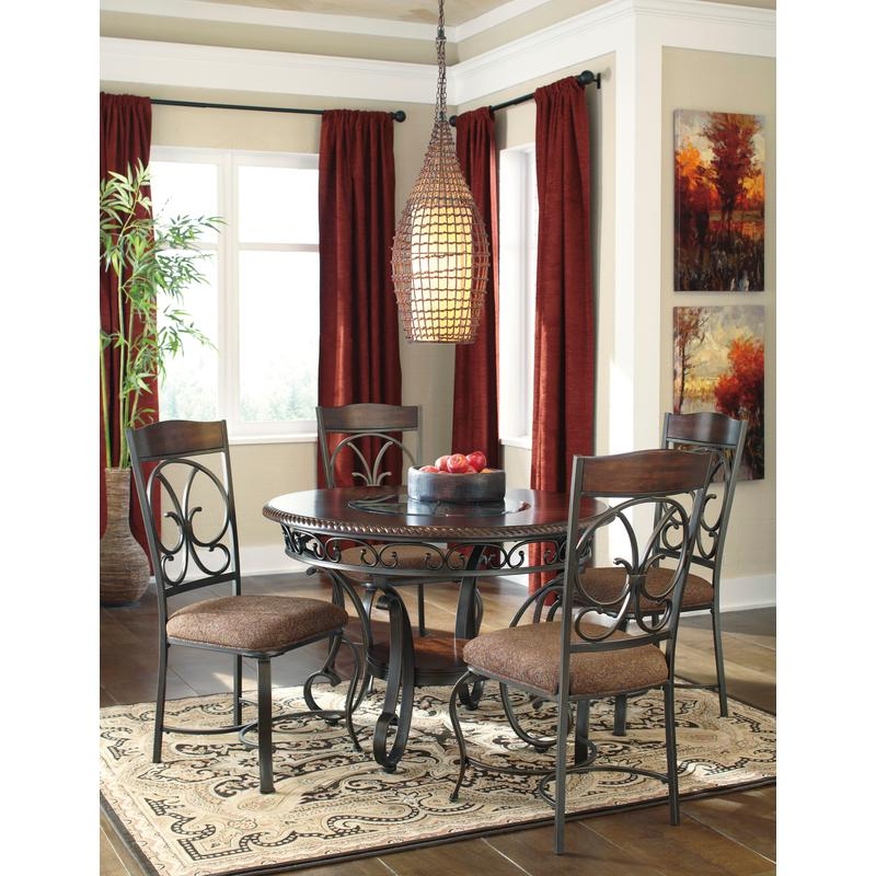 View Product - Glambrey - Brown 5 Piece Dining Room Set