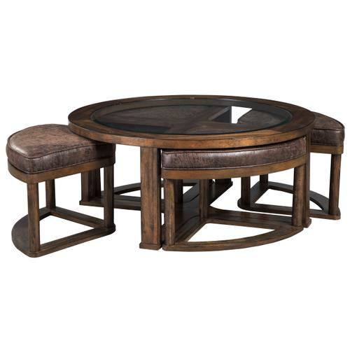 Signature Design By Ashley - Cocktail Table w/4 Stools