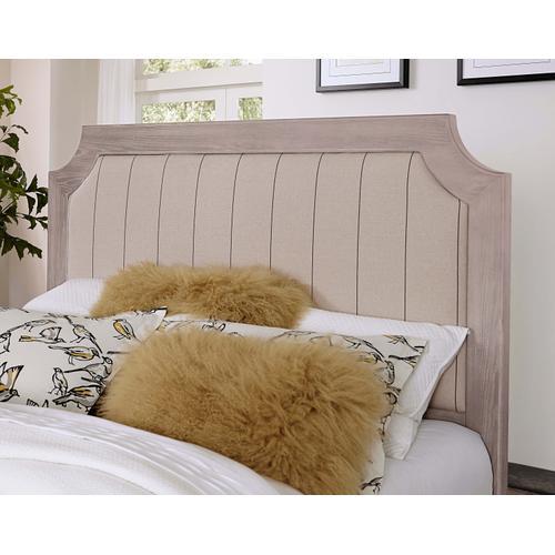 Vaughan-Bassett - Queen Bungalow Upholstered Storage Bed - Dover Grey Finish