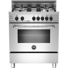 "30"" Freestanding Range with 4 Sealed Aluminum Burners, 3.60 Cu. Ft. Capacity, Convection Cooking, Up to 18k BTU Dual Wok Zone, Cast Iron Pan Support and Triple Glass Oven Door"