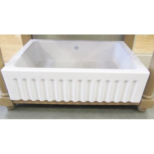 Discontinued Shaw's Fluted Front Fireclay Kitchen Sink