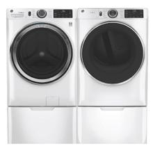 GE Smart Front Load 4.8 cu. ft.  ENERGY STAR Steam Washer & 7.8 cu. ft. Electric Dryer w/ Pedestals- White
