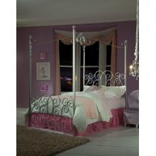 Silver Metal Canopy Bed Full
