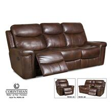 Softie Driftwood Leather Reclining Sofa