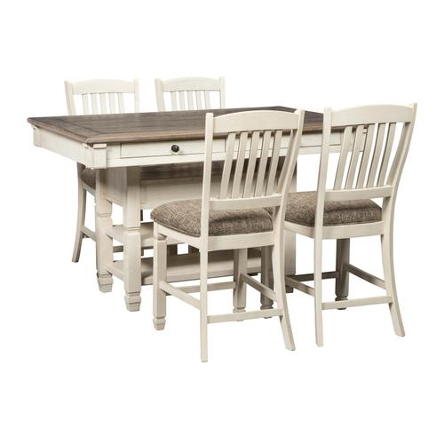 Aria Counter Dining Table and Four Chairs