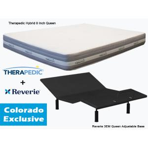 THERAPEDIC Hybrid Queen Mattress & REVERIE Adjustable Base   **Colorado Exclusive**