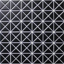 1 Pure Color Pattern Triangular Matte Black Porcelain Mosaic Tile