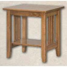 See Details - Oak Mission End Table