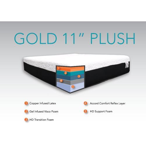 "Accord Comfort Sleep Systems - CopperRest Sleep - Gold 11"" - Plush"