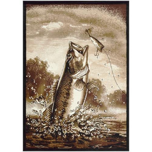 American Cover Design - Medium - Adventures Bass Fishing 5x8 Rug