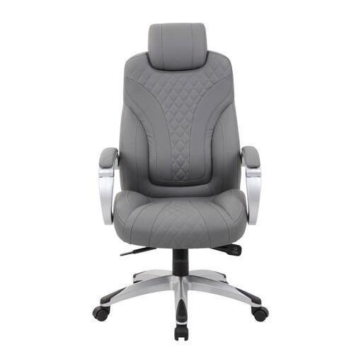 Presidential Office - B8871 - Boss Hinged Arm Executive Chair With Synchro-Tilt, Grey