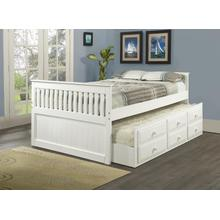 Mission Captains Bed with Trundle and Storage Drawers-Full Size