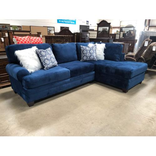 Albany Industries - GROOVY NAVY SECTIONAL