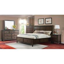 Chatham Grey - King Bedroom Group - King Storage Bed, Dresser & Mirror