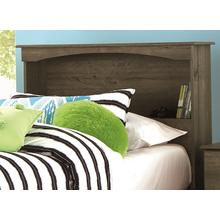 Bookcase Headboard Twin Weathered Gray Ash