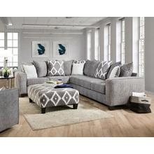 ALBANY 464-65 Stonewash Black 2-Pc Sectional Sofa, Swivel Chair & Ottoman Group