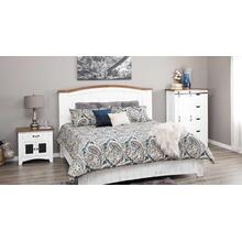 White Distressed Queen or King Bed